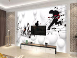 musical scale notes wall mural