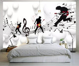 music scale wall mural