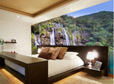 mural waterfall forest