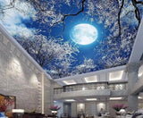 full moon ceiling wall mural