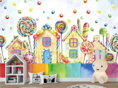 candy house wall mural