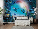 underwater fish wall mural