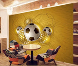 soccer ball wall mural