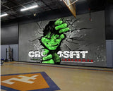 hulk mural for gym