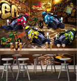 street racing motorcycle wall mural
