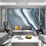 blue abstract marble wall mural