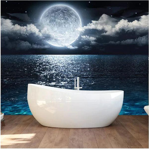 self-adhesive moonlight night sky mural