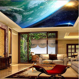earth ceiling wallpaper