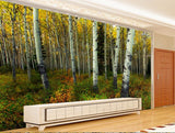 fall leaves wall mural