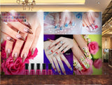 wall mural nail salon