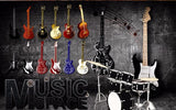 wall mural retro music