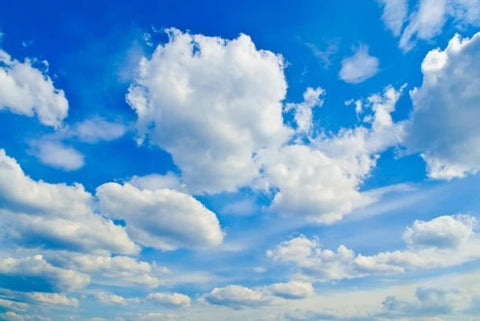 blue sky clouds wallpaper