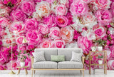 pink flowers wallpaper mural
