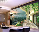 balcony sea-view wall mural