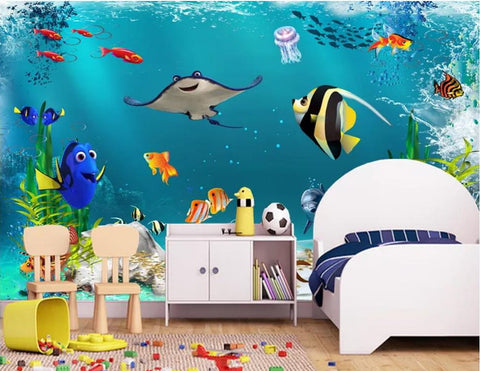 finding dory wall mural