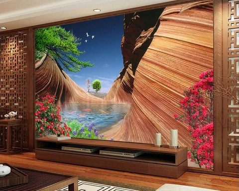 sand fish pool nature wall mural