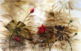abstract oil painting flowers mural
