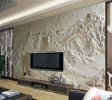 3d relief wall mural