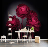 red peonies wallpaper
