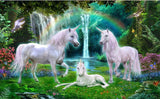 unicorns forest wallpaper