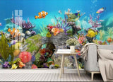 underwater clown fish mural