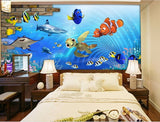 cartoon dory wall mural