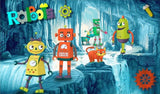 cartoon robots kids wallpaper