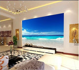 blue sea beach wall mural