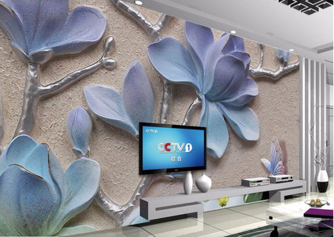 3d relief orchid wallpaper