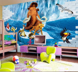 mural ice age cartoon