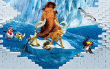 ice age cartoon mural