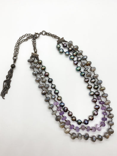 "Donatella Pellini - XC 04011 - ""Moon Gray"" Necklace"