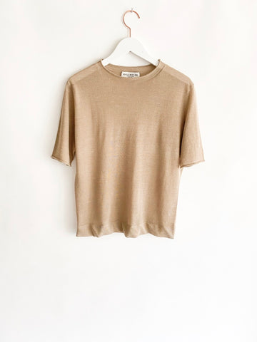 Kallmeyer - Short Sleeve Roll Neck - Oatmeal