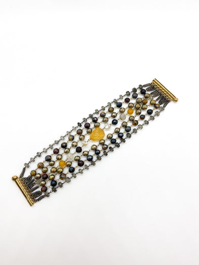 "Donatella Pellini - XB 01720 - ""Yellow Steel"" Bracelet"