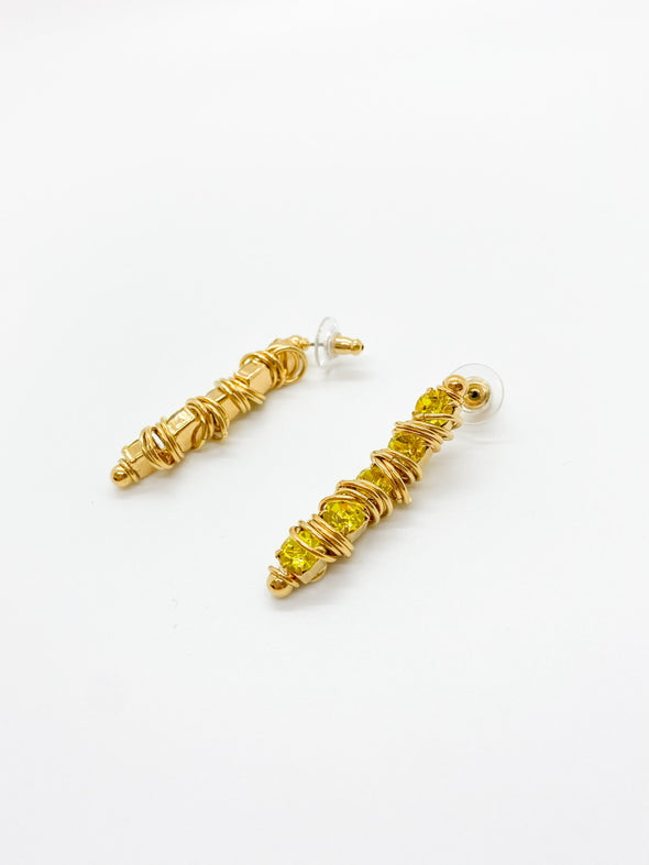 Moutton Collet - Ministars Earrings - Citrine