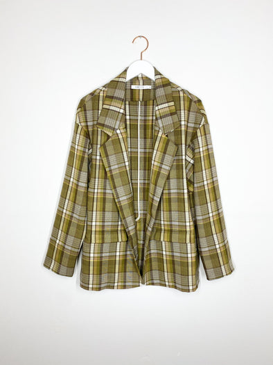 Vincetta - Plaid Notch Blazer