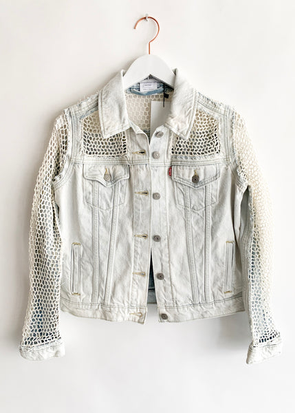Lou De Bètoly - Crocheted Denim Jacket - Light Denim
