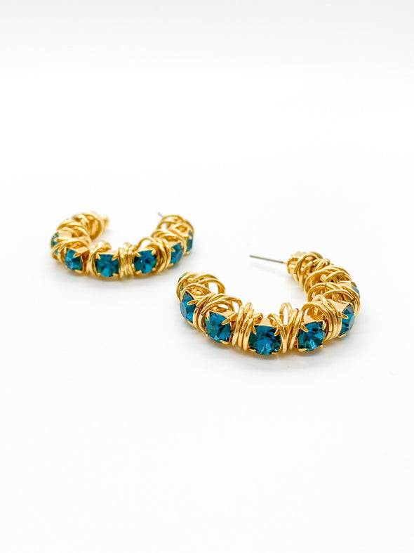 Moutton Collet - Disco Earrings - Blue