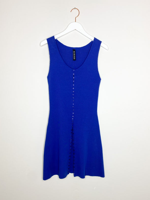Delfina Balda - Knit Button Top - Blue