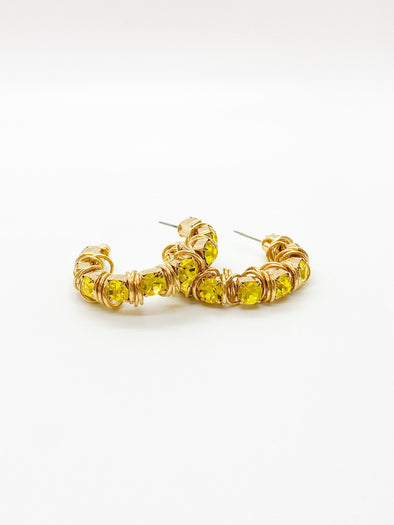 Moutton Collet - Disco Earrings - Citrine