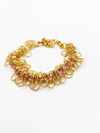 Moutton Collet - Disco Bracelet - Light Rose