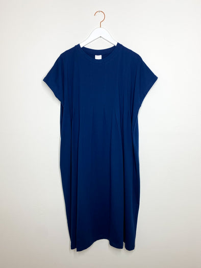 Kowtow - Folding Dress - Dark Blue