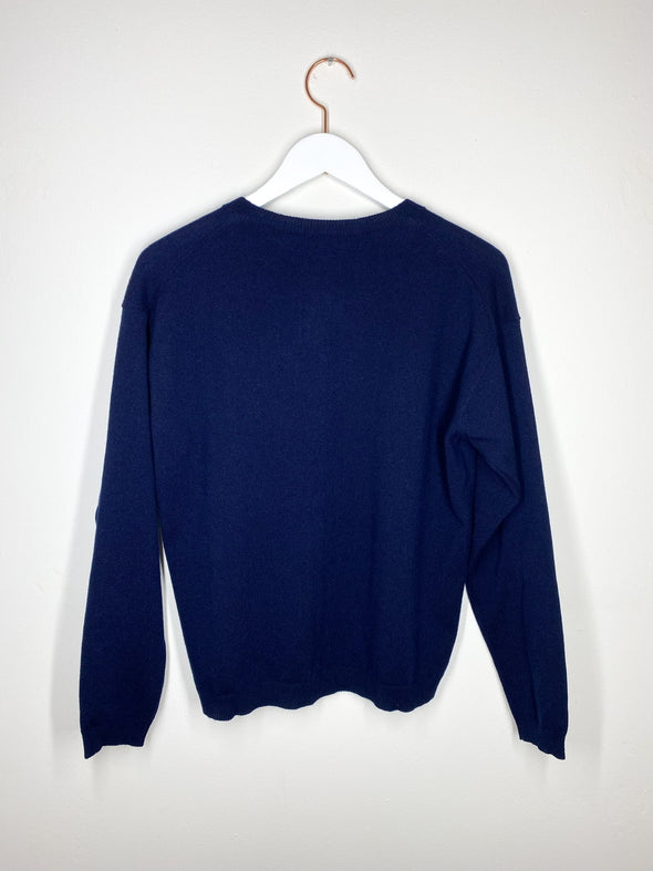 Laura Urbinati - Button Sweater - Blu