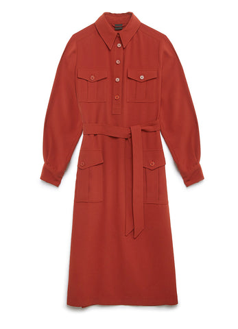 LONG CADY SHIRT DRESS