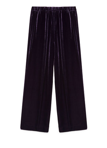 LIGHT SILK VISCOSE VELVET TROUSERS