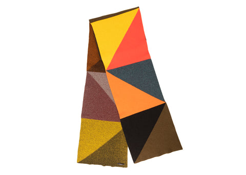 MULTICOLOURED TRIANGLE SCARF
