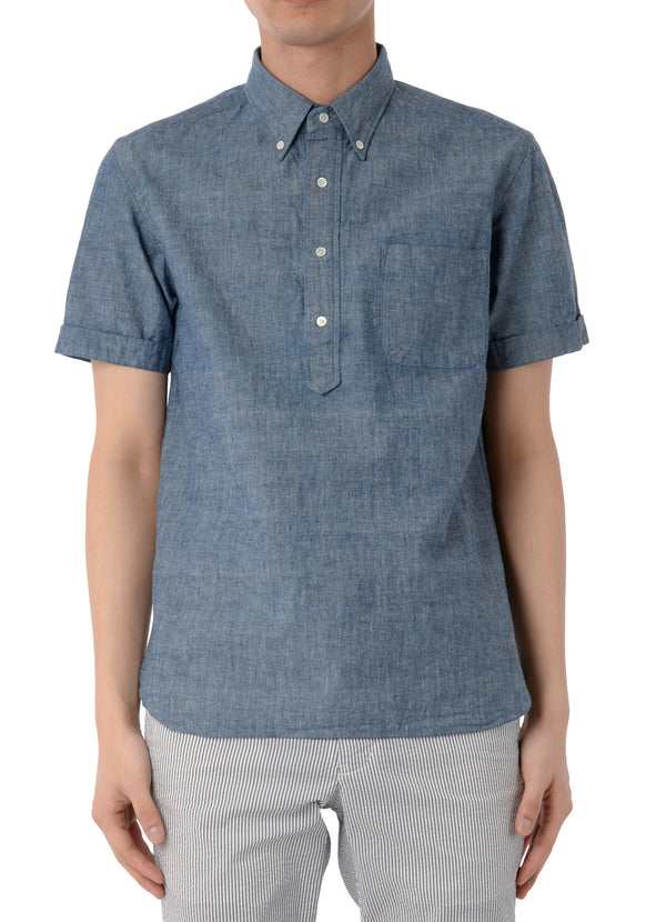 S/S POPOVER CHAMBRAY SHIRT