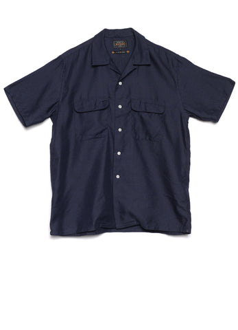SHORT SLEEVE OPEN COLLAR COOLMAX LINEN SHIRT
