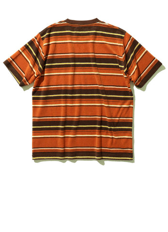 PILE STRIPE POCKET TEE