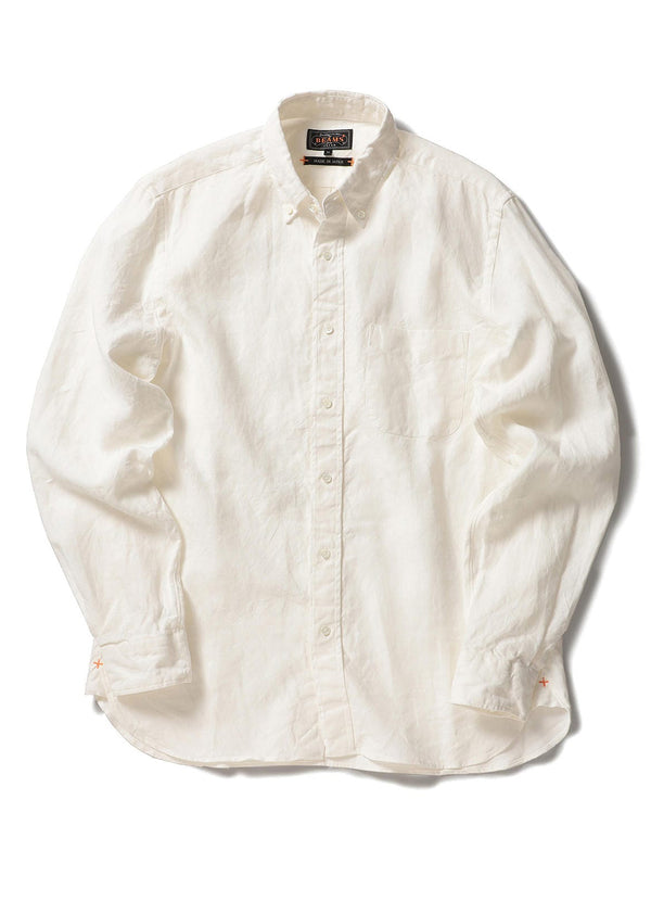 BUTTON DOWN 1/40 LINEN SHIRT